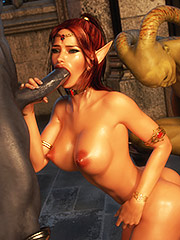 Hardcore sex with kinky humans - Elven desires lost innocence  by 3D Collection