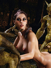 Hos member was tightly squeezed with every move inside her - Iris Hunt, The Monsters Lair by 3D Collection