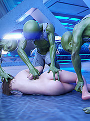 One of the aliens wanted me to suck his dick - First Contact 7 Night of Primal Lust by Golden Master