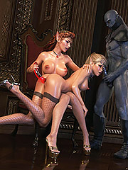 Devil of lust has enough cum in his huge cock - Elven desires 6  by 3D Collection